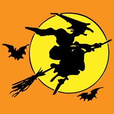Halloween Witch On Broomstick Free Stock Photo Public Domain