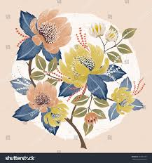 spring flower vector illustration beautiful floral bouquet spring stock vector
