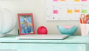 Pink Craft Room - how to organize a craft room work space the happy housie