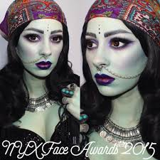nyx face awards 2015 gloomy fortune teller makeup tutorial youtube