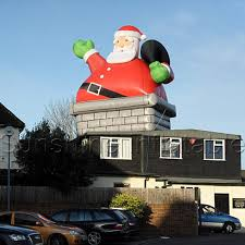 christmas inflatables outdoor high quality outdoor christmas santa in chimney