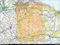 York England Map Map 026 North York Moors Western Area Ordnance Survey 25k