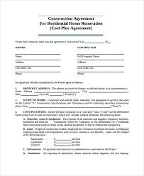 renovation contract template cleaning contract template service