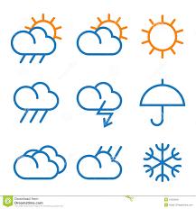 Weather Map Symbols Vector Weather Symbols Stock Photo Image 31022640