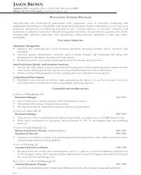 restaurant resume template exle management resume business management resume exles bar