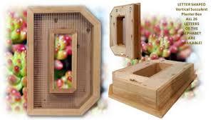 buy a handmade vertical succulent planter box large 25 u201d alphabet