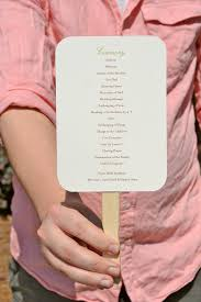 Hand Fan Wedding Programs Wedding Program Fan