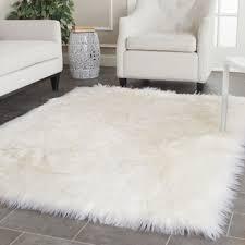 Overstock Com Home Decor Jungle Sheep Skin White Rug 5 U0027 X 7 U00276 12945557 Overstock Com