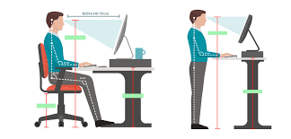 Ergonomic Standing Desk Setup The Proper Height Of A Standing Desk Notsitting