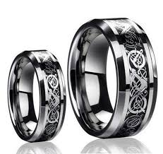 Inexpensive Wedding Rings by His U0026 Her U0027s 8mm 6mm Tungsten Carbide Celtic Knot Dragon Design