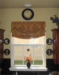 Mock Roman Shade Valance - diy no sew roman shades from thrifty decor