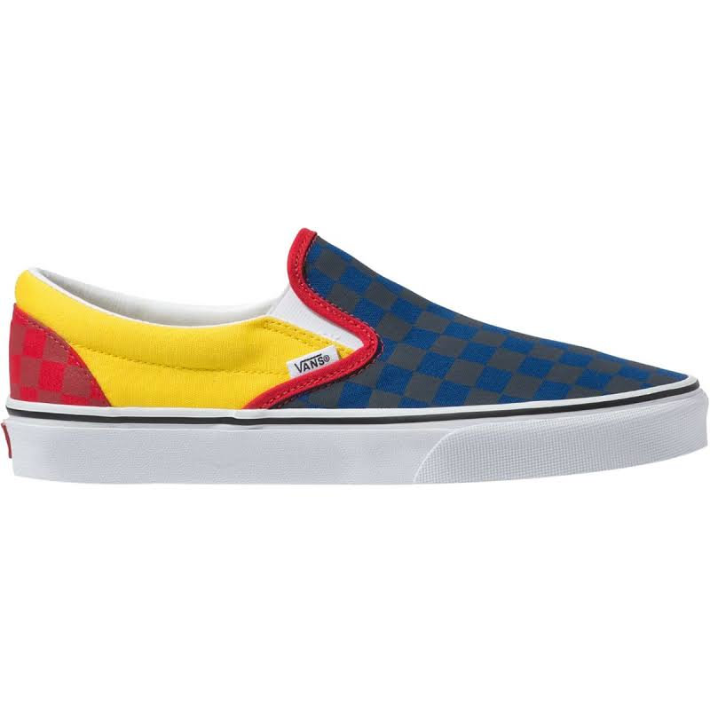 Vans Classic Slip-On OTW Rally (Navy/Yellow/Red) Skate Shoes-8