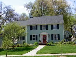 exterior modern exterior brick paint house design with yard plan