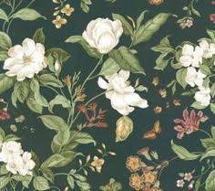wallpaper waverly floral roses pink white rose vintage english