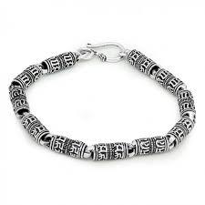 sterling bracelet images Vintage om mami padme hum blessing 925 sterling silver bracelet jpg