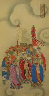 駘駑ent mural cuisine 三十二天帝及諸神將 南八天帝 道教認為 上有卅二天 按照東西南北四個