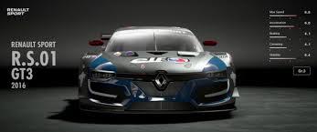 renault sport rs renault sport r s 01 gt3 2016 gran turismo sport car list