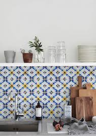 kitchen wall wallpaper vintage tile