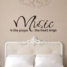 popular vinyl music wall art buy cheap vinyl music wall art lots quote wall decals 2014 new designs music is the prayer the heart removable vinyl wall stickers