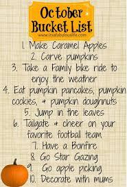 october list fall thanksgiving