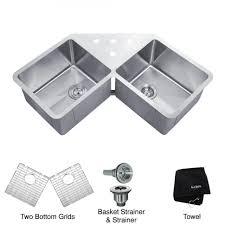 Kitchen Marvelous Sink Grate Stainless Steel Stainless Steel by Kitchen Marvelous Corner Undermount Kitchen Sinks Corner