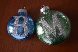 easy glitter ornament