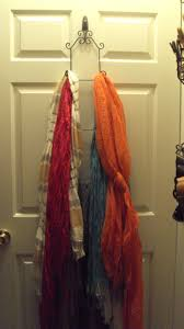 Creative Way To Hang Scarves by The 25 Best Hang Scarves Ideas On Pinterest Closet Organization
