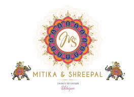 Cards Invitation Logo Wedding Logo Monogram Wedding Invitation Cards Indian