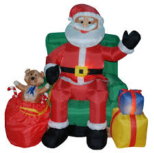 christmas inflatables three posts christmas inflatables animated santa on chair reviews