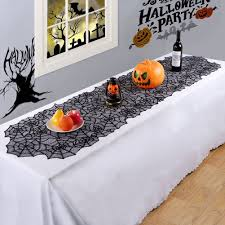 halloween lace tablecloth amazon com ourwarm black lace spider web table runner for