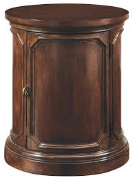 Drum Accent Table by Traditional Drum Style Round Lamp Table By A R T Furniture Inc