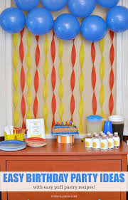 Birthday Ideas Simple Themes Puff Pastry Ideas For Birthdays
