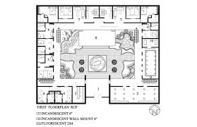 courtyard house floor plans plan courtyard house plan