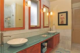affordable vs costly bathroom remodeling which one you gonna bathroom remodelling with modern bathroom vanity units plus glass countertop and double sinks combined with mirrors
