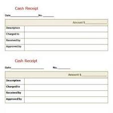 cash receipt template samples and templates