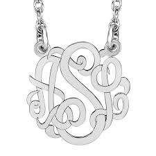 script monogram necklace personalized 10mm script monogram necklace jcpenney