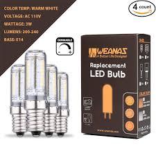 Led Light Bulbs Wattage Conversion by Amazon Com Weanas 4x E14 Base Dimmable Led Light Bulb Lamp 3