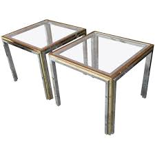 brass and glass end tables romeo rega chrome brass and glass end tables for sale at 1stdibs