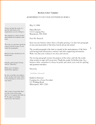 Semi Block Business Letter Example by 4 Letter Template For Business Quote Templates