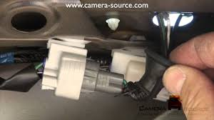 which stock wires to use to connect stock backup camera to
