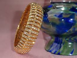 wedding bangle bracelet images White stone bangle ethnic broad bracelet the quot queen 39 s band jpg