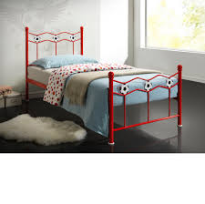Metal Bed Frames Single by Chiswick Red Metal Bed Frame 3ft Single
