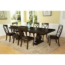 9 dining room sets steve silver hartford 9 dining room set w brown with