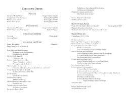 christian wedding program beautiful christian wedding ceremony order gallery styles