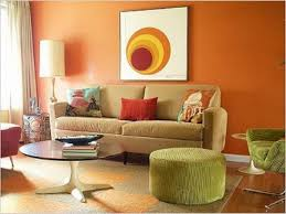 peach color paint living room home