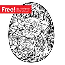 free easter egg coloring page make breaks