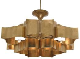 Gold Leaf Chandelier Grand Lotus Chandelier Currey U0026 Company