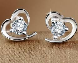 heart shaped earrings aliexpress buy wholesale fashion jewelry silver cz heart