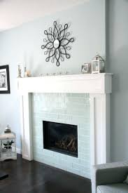 subway tile fireplace surround tiled ideas ceramic pictures glass