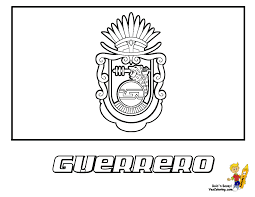fancy mexico flag coloring page 13 for your picture coloring page
